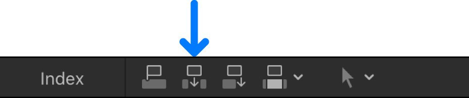 Botón Insertar sobre la línea de tiempo
