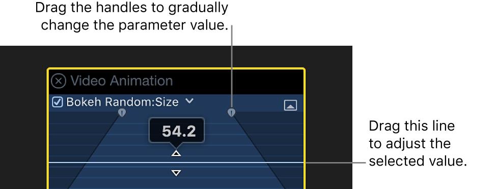 El editor de animación de vídeo con un parámetro expandido