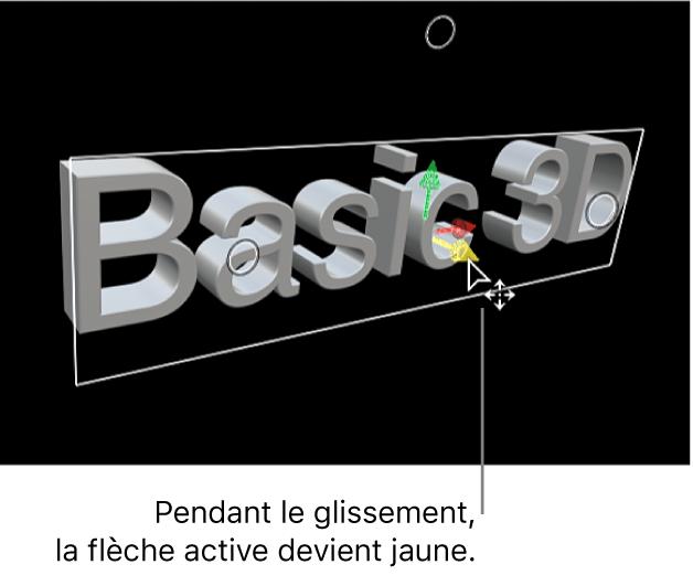 Titre3D déplacé verticalement le long de son axeY dans le visualiseur