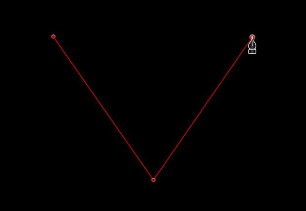 Visualiseur affichant un point d'angle linéaire