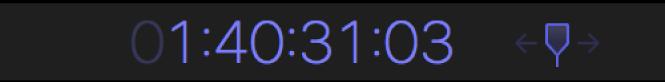 Zone d'affichage du timecode présentant la valeur de timecode sur laquelle la tête de lecture doit être placée
