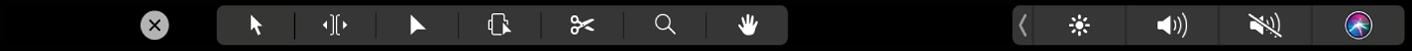 Touch Barにタイムライン編集ツールが表示されている