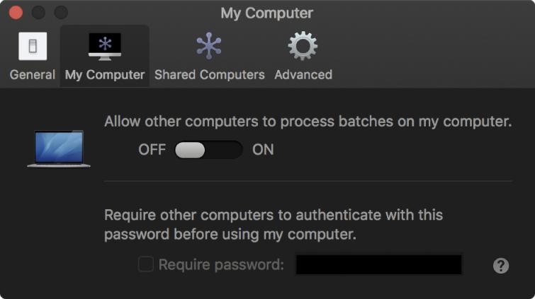 My Computer preferences pane