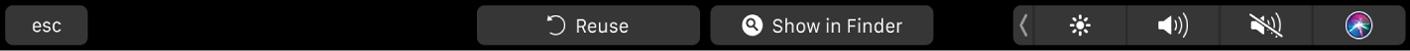 Conjunto de botones de la pestaña Completado