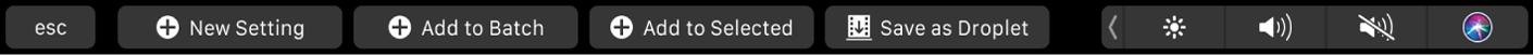 Conjunto de botones de ajuste seleccionado