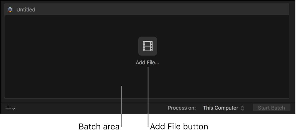 """Área de lote en la que se muestra el botón """"Añadir archivo"""""""