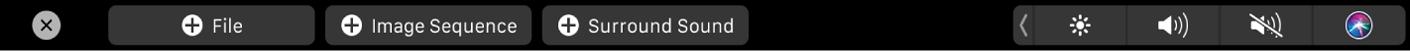 Conjunto de botones para añadir archivos