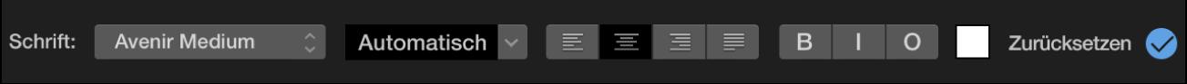 Steuerungen für Titel über dem Viewer
