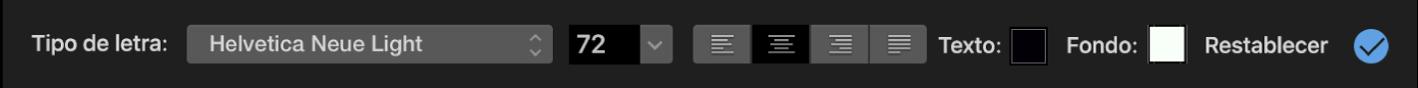 Controles del título