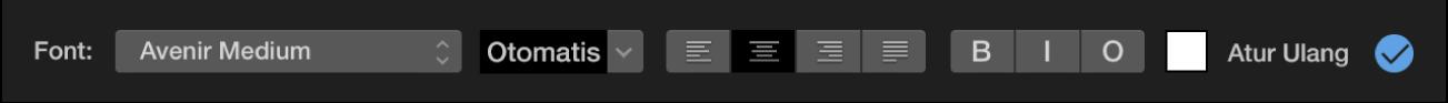 Kontrol judul di atas penampil