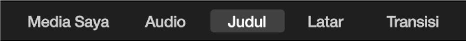 Judul yang dipilih di atas browser