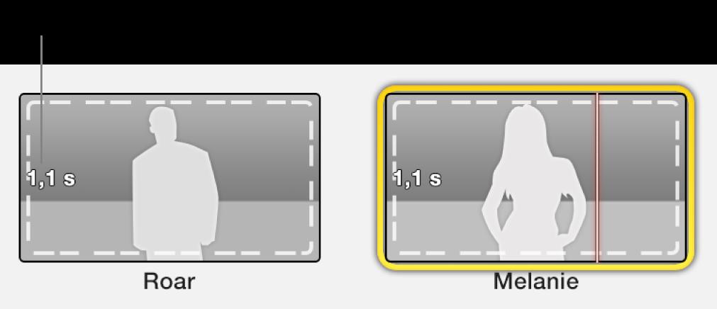 Eksempelbilder i traileren med tidsangivelse som angir påkrevd videolengde.