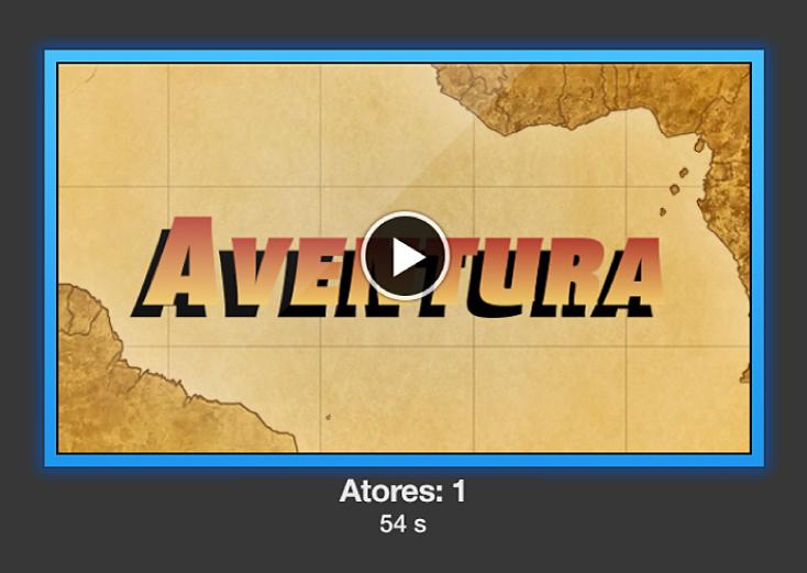 Pré-visualização do trailer com o botão Reproduzir ativo