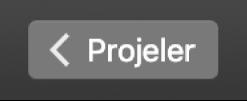 Projeler'in araç çubuğundaki geri düğmesi