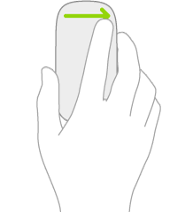 An illustration symbolizing the mouse gesture for opening Today View.