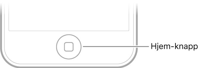 Hjem-knappen nederst på iPodtouch.