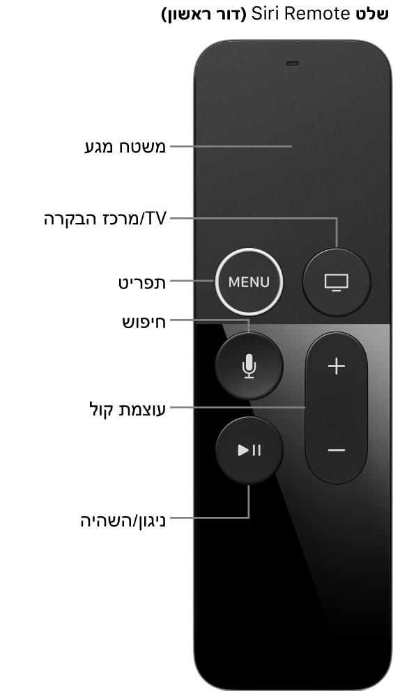 שלט Apple TV Remote (דור ראשון):