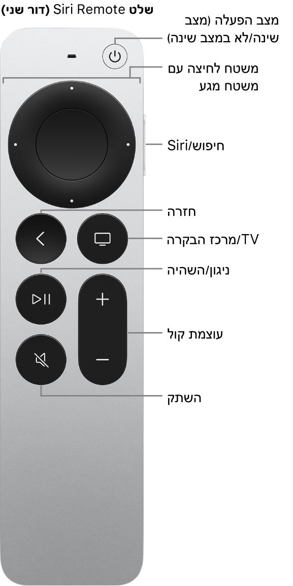 שלט Apple TV Remote (דור שני):