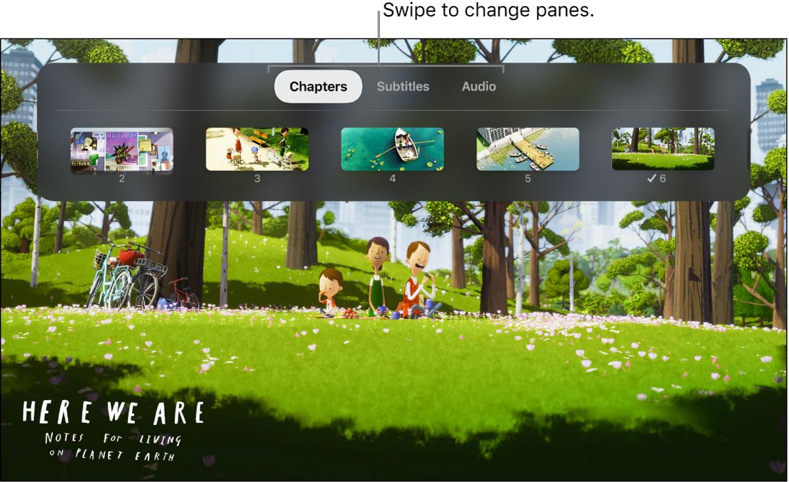 Info menu during playback