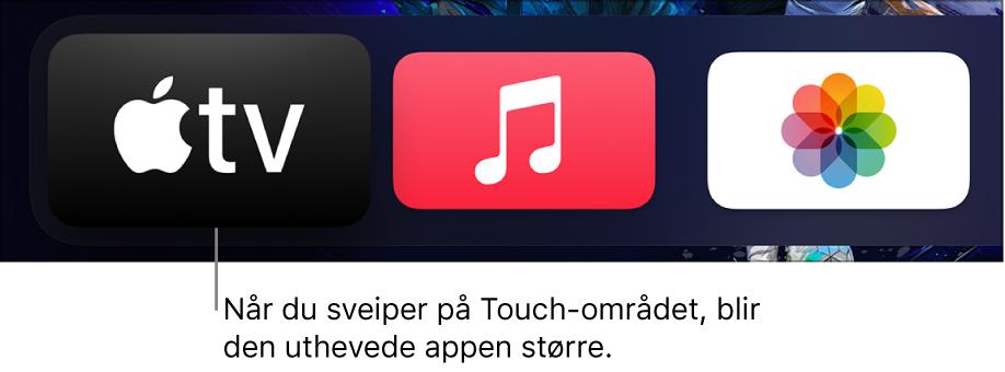 Uthevet app på Hjem-skjerm