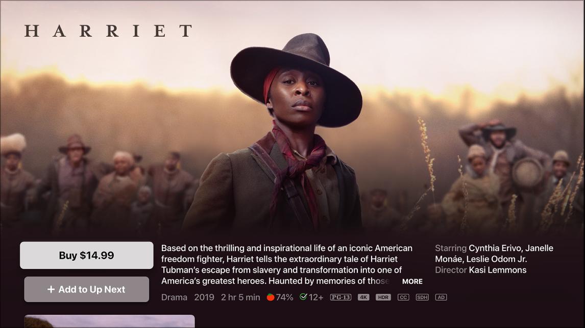 Schermata di informazioni sul film
