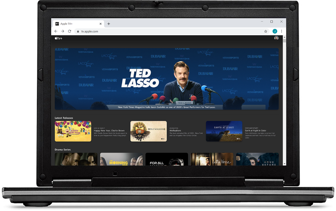 AppleTV+ in een webbrowser