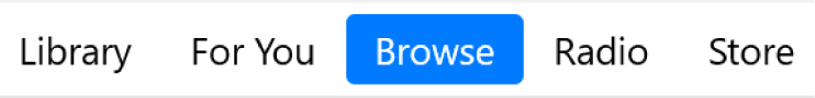 The Browse button in the navigation bar.