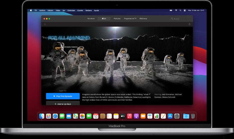 """La pantalla """"Ver ahora"""" de la app Apple TV."""