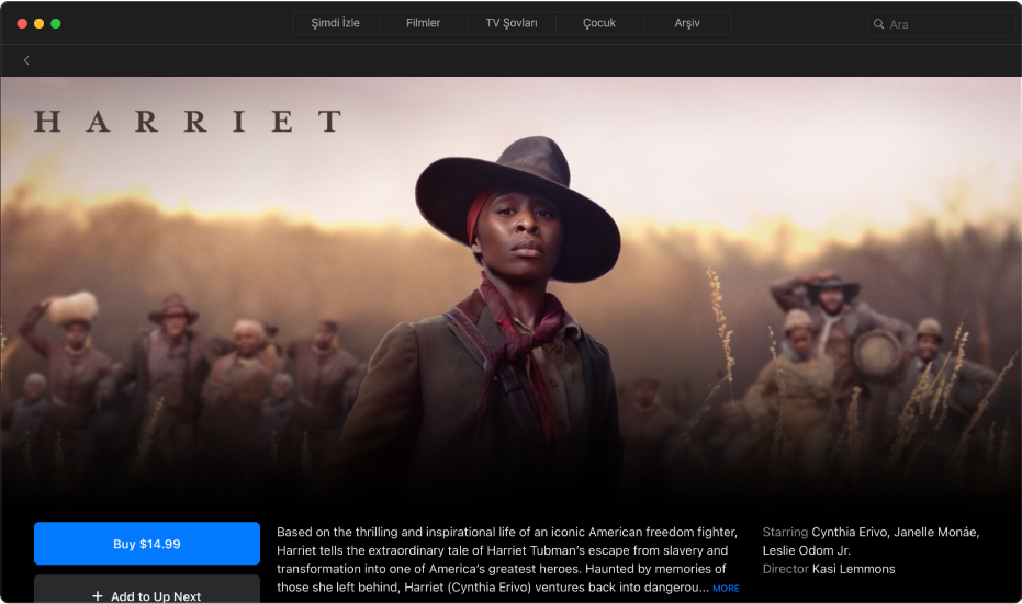 Filmler ayrıntı ekranı