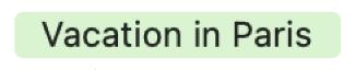 Los eventos de todo el día en la visualización por meses se marcan con una barra de color