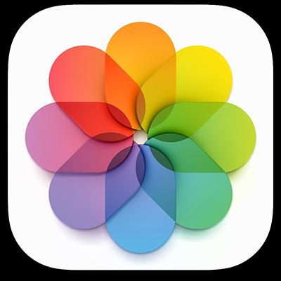 O ícone da aplicação Fotografias