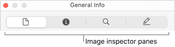 The Image inspector panes.