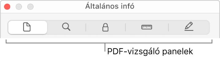 A PDF-vizsgáló panelek.