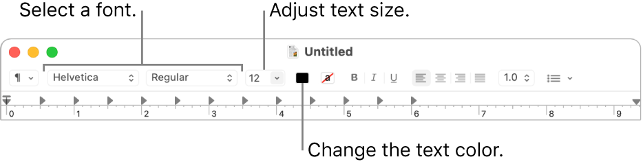 Adjust text size, color, and font.