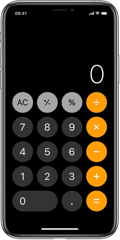 เครื่องคิดเลขมาตรฐานที่มีฟังก์ชั่นพื้นฐานทางคณิตศาสตร์