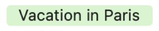 Les évènements durant un jour entier sont représentés dans la présentation Mois par une barre à laquelle un code couleur a été appliqué