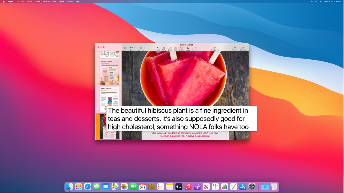 The Hover Text feature is active and shows enlarged text in a new window.