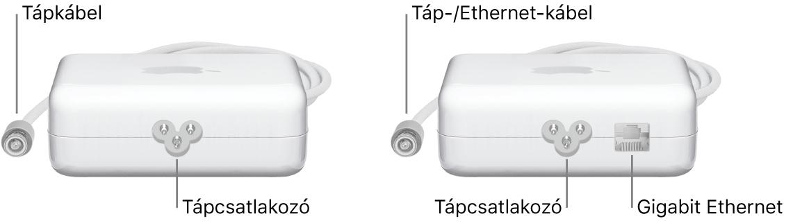 Egy tápegység Ethernet-port nélkül egy tápegység Ethernet-porttal.
