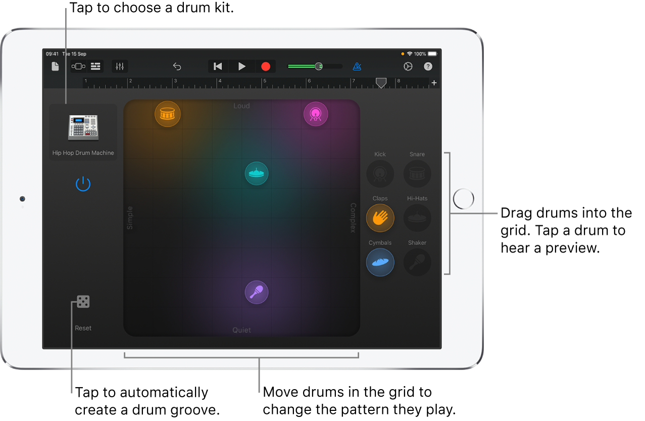 Smart Drums Touch Instrument