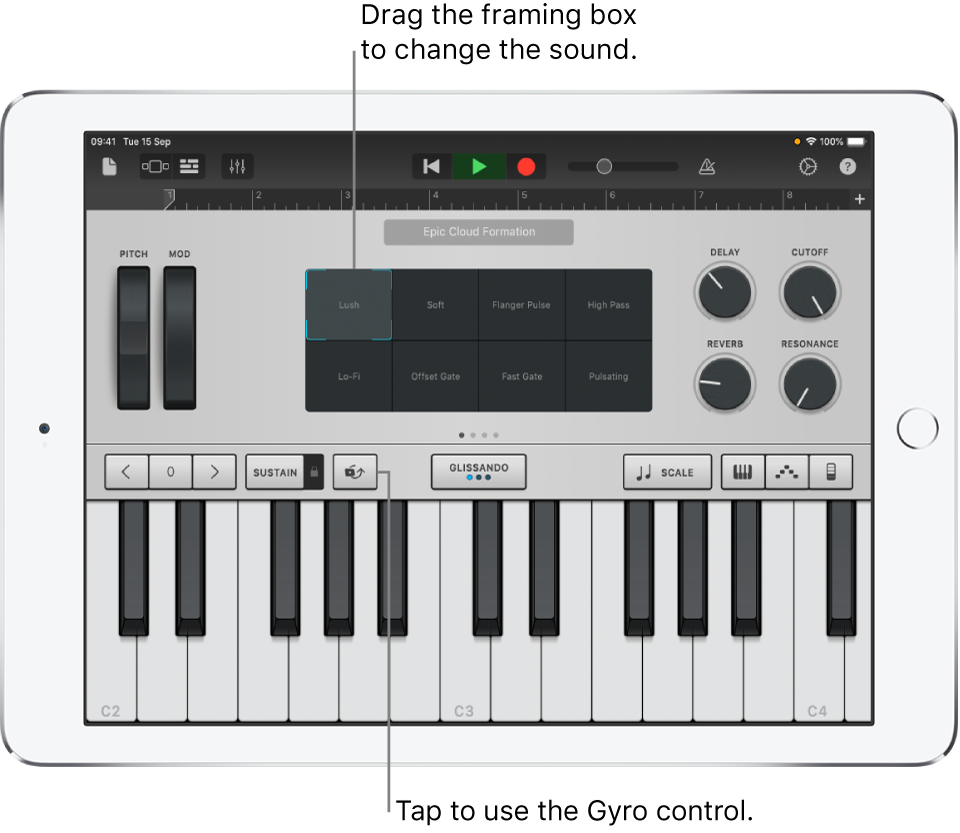 Keyboard Touch Instrument