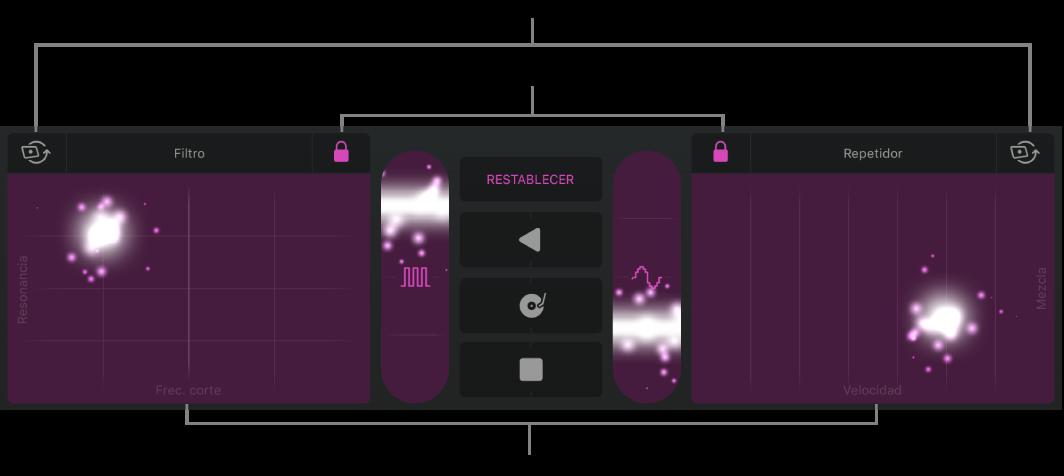 Figura. Área de pistas mostrando los efectos de remix.