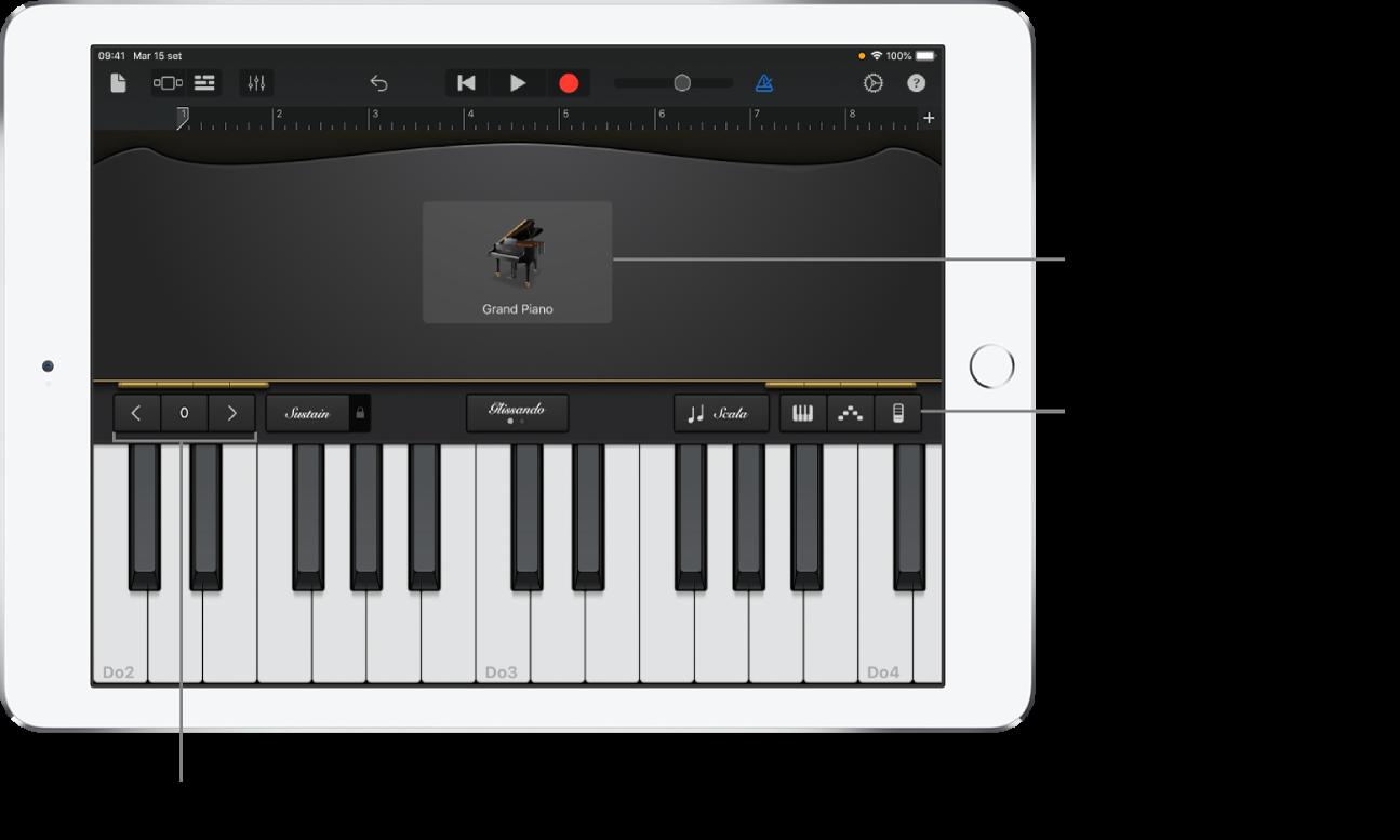 Strumento Touch Tastiera