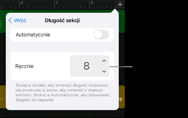 Narzędzia zmiany długości sekcji utworu