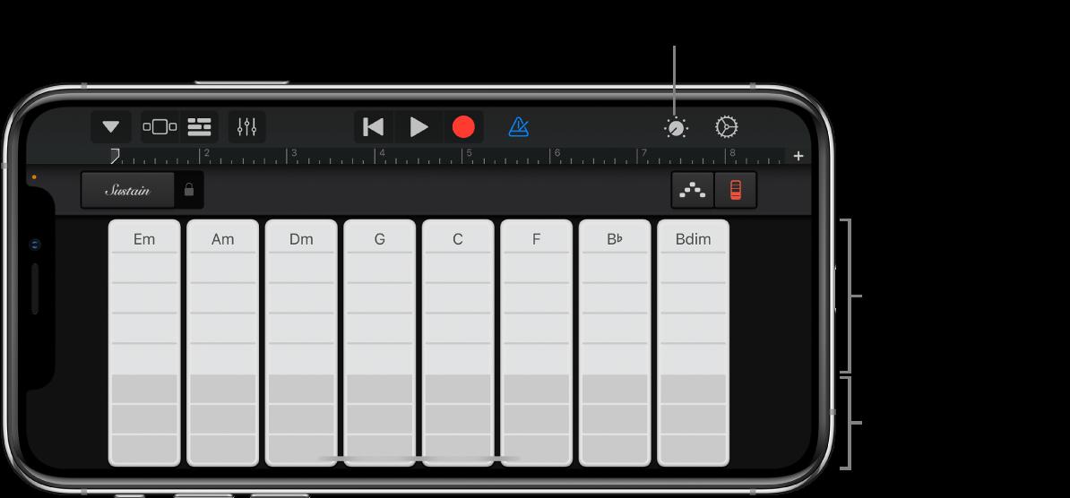 Akkordbånd til keyboard