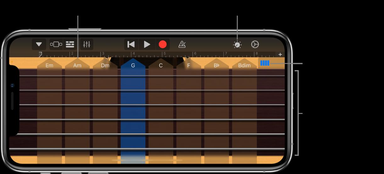 Touch-instrumentet Guitar