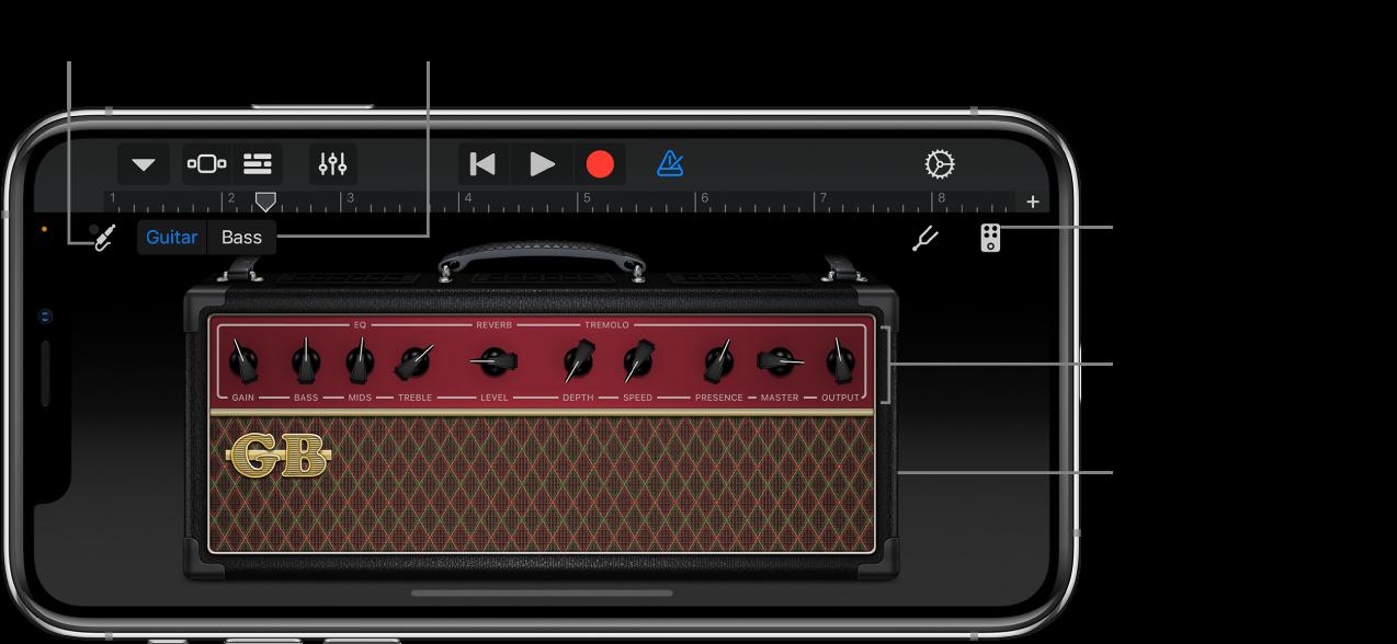 Touch-instrumentet Guitarforstærker