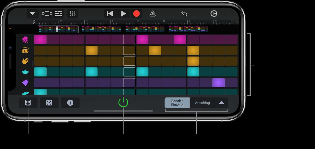 Beat-Sequencer als Touch-Instrument