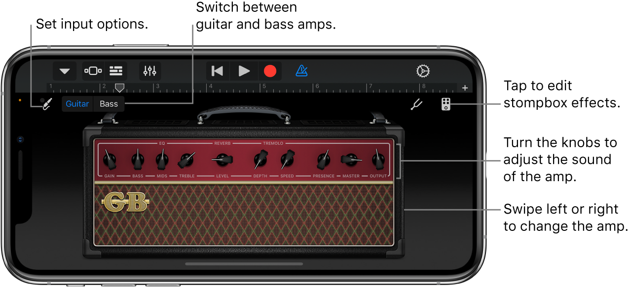 Guitar Amp Touch Instrument