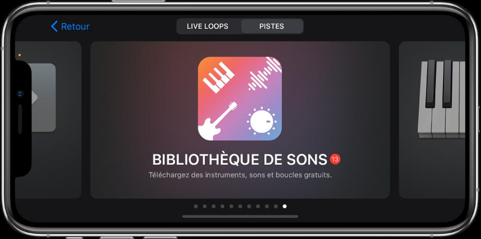 Bibliothèque de sons dans le navigateur de sons