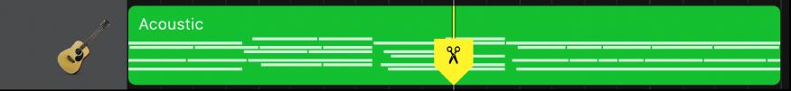 Région avec le marqueur de scission glissé vers le bas